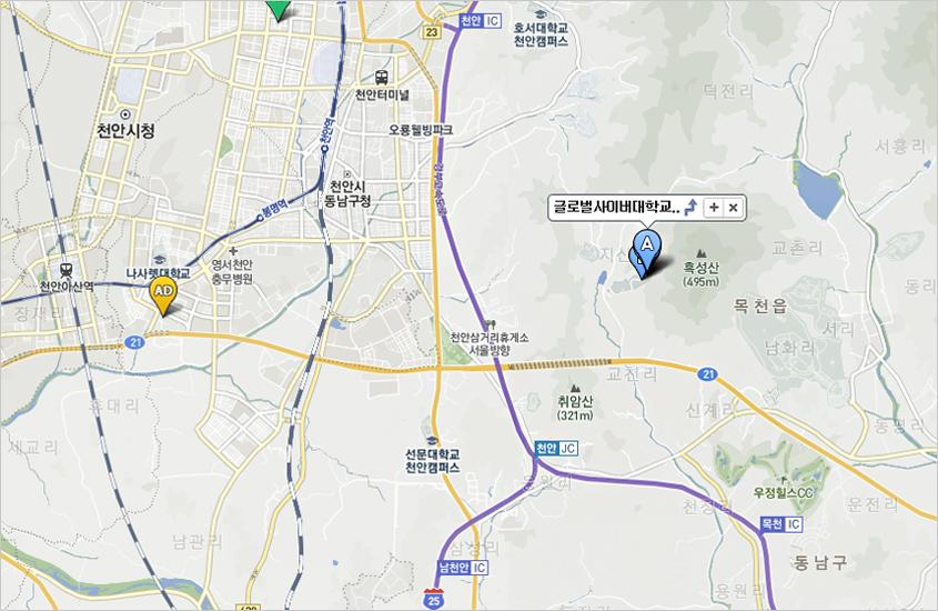 천안본교 지도