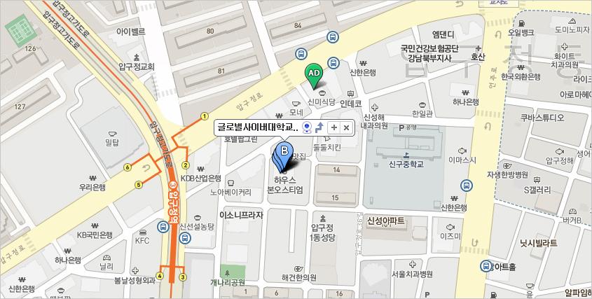 서울캠퍼스 지도